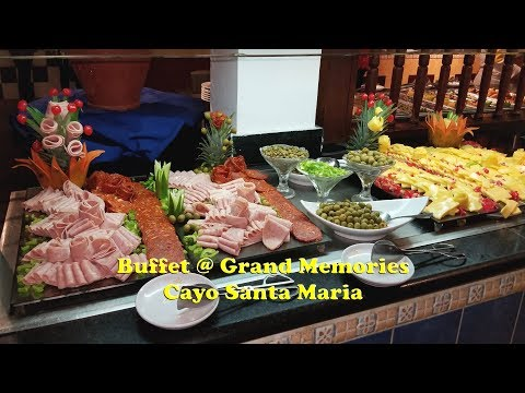 Food Time - Buffet At Grand Memories, Cayo Santa Maria - Cuba.