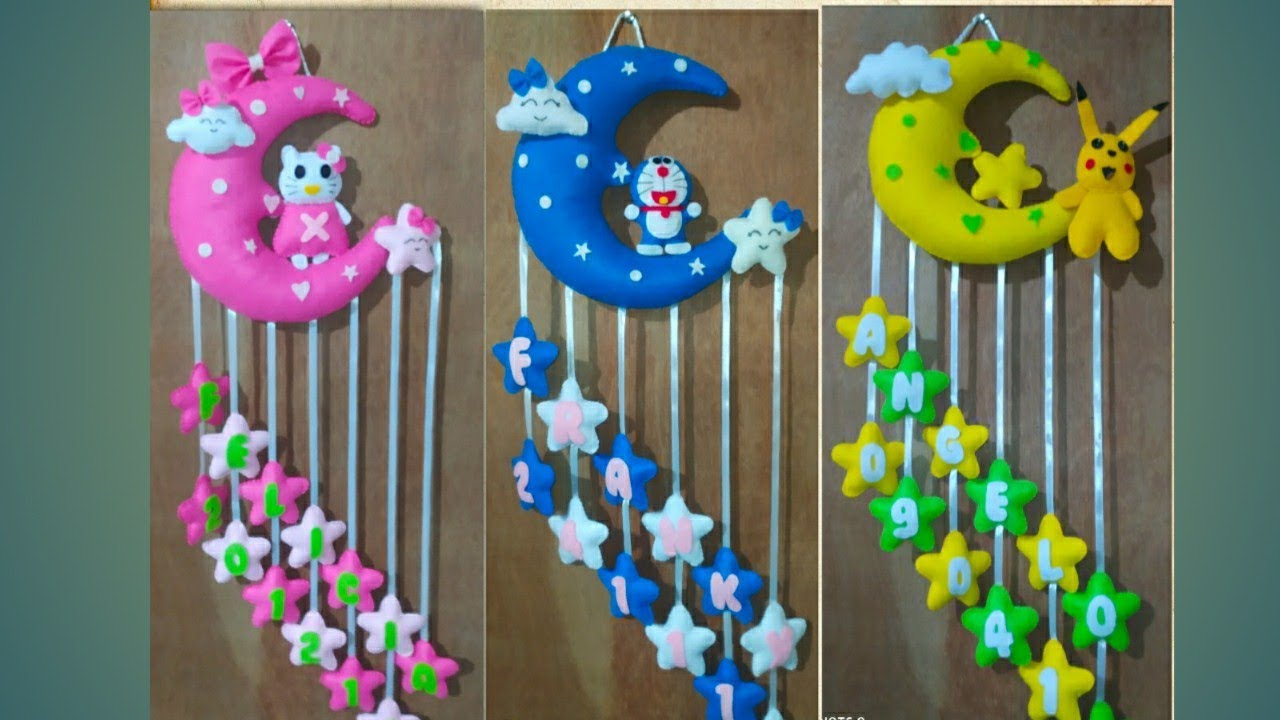 Tutorial Membuat Gantungan Pintu Karakter Hello Kitty Dari Kain Flanel Hanie Channel Youtube Gantungan kamar dari kain flanel