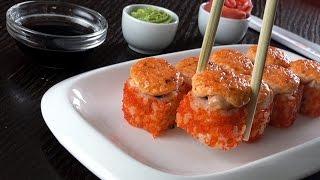 Зпечённый ролл с лососем от Суши шоп