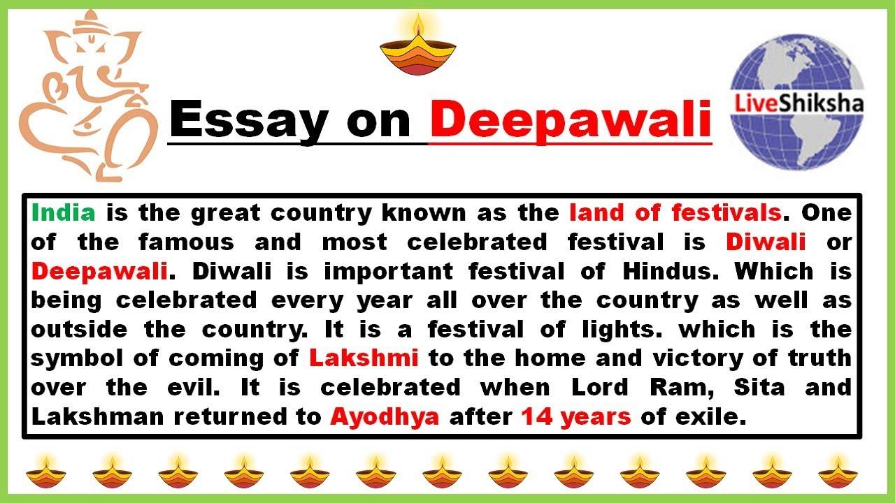 Essay writing diwali festival