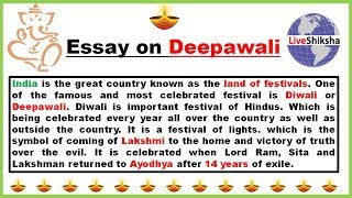 Hello friends !! in this video you will learn that how to write diwali essay english 500 words. article shared by anusha poddar. can follow me on : @ ...