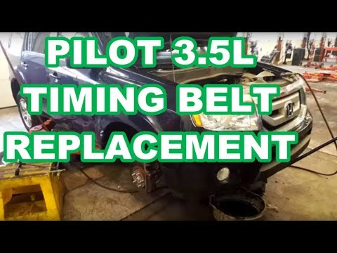 Honda Pilot 3.5L Timing Belt Replacement acura How to replace water pump kit ODYSSEY RIDGELINE