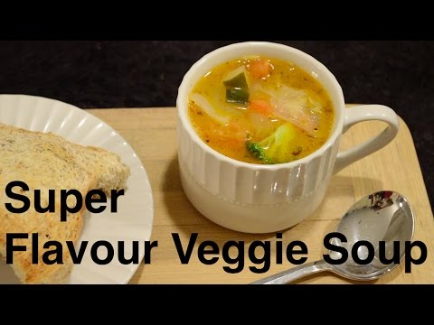 SUPER Flavour Veggie Soup (Easy & Vegan)
