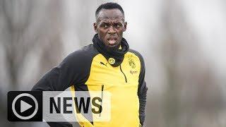 So rockte Torschütze Usain Bolt das BVB-Training | Bundesliga | BVB | SPOX