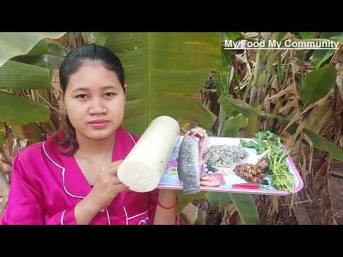 Awesome Cooking Fish W/ Banana Stem Delicious Recipe - Cook Fish Recipes - Village Food Factory