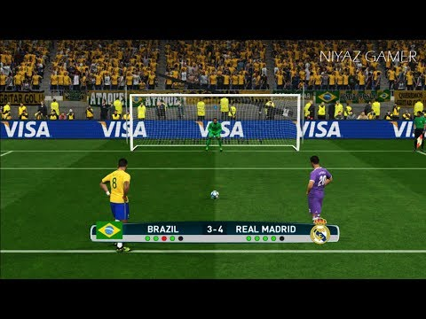BRAZIL vs REAL MADRID | Penalty Shootout | PES 2017 Gameplay
