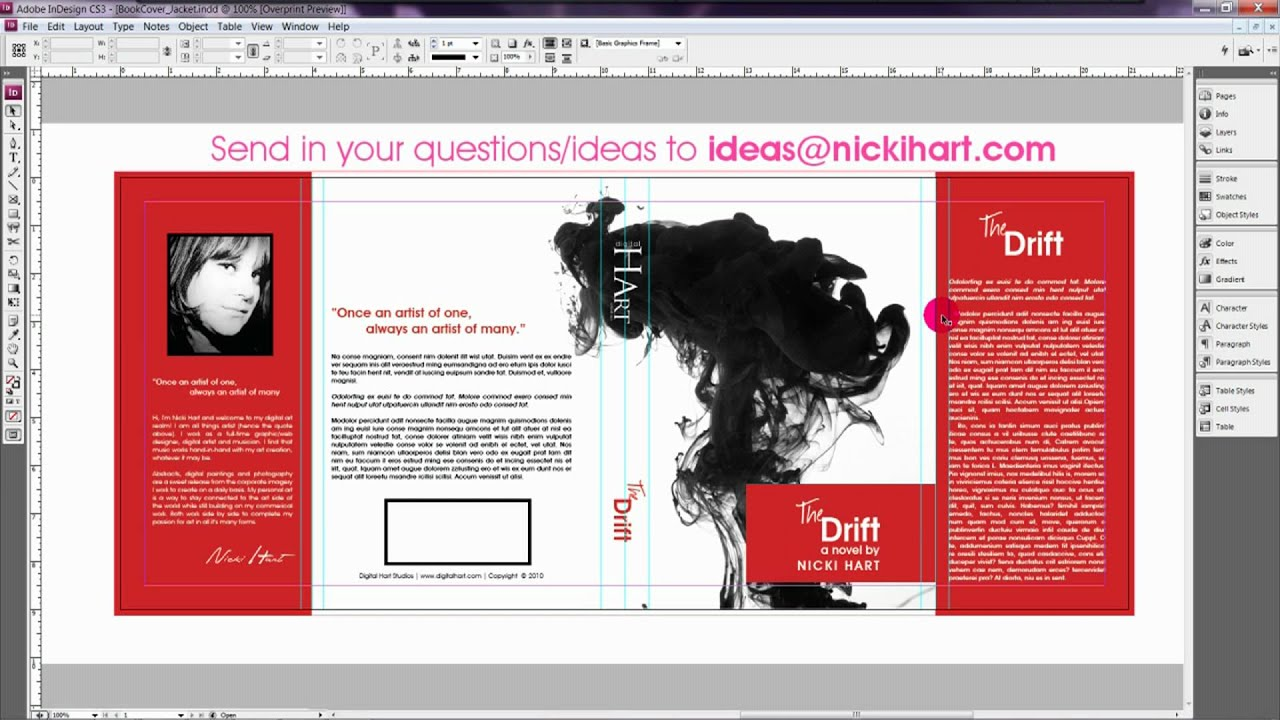How to design a book jacket cover book design youtube for Design a book jacket template