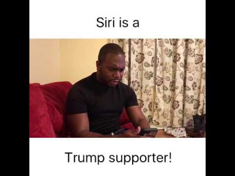 Siri is a TRUMP supporter!
