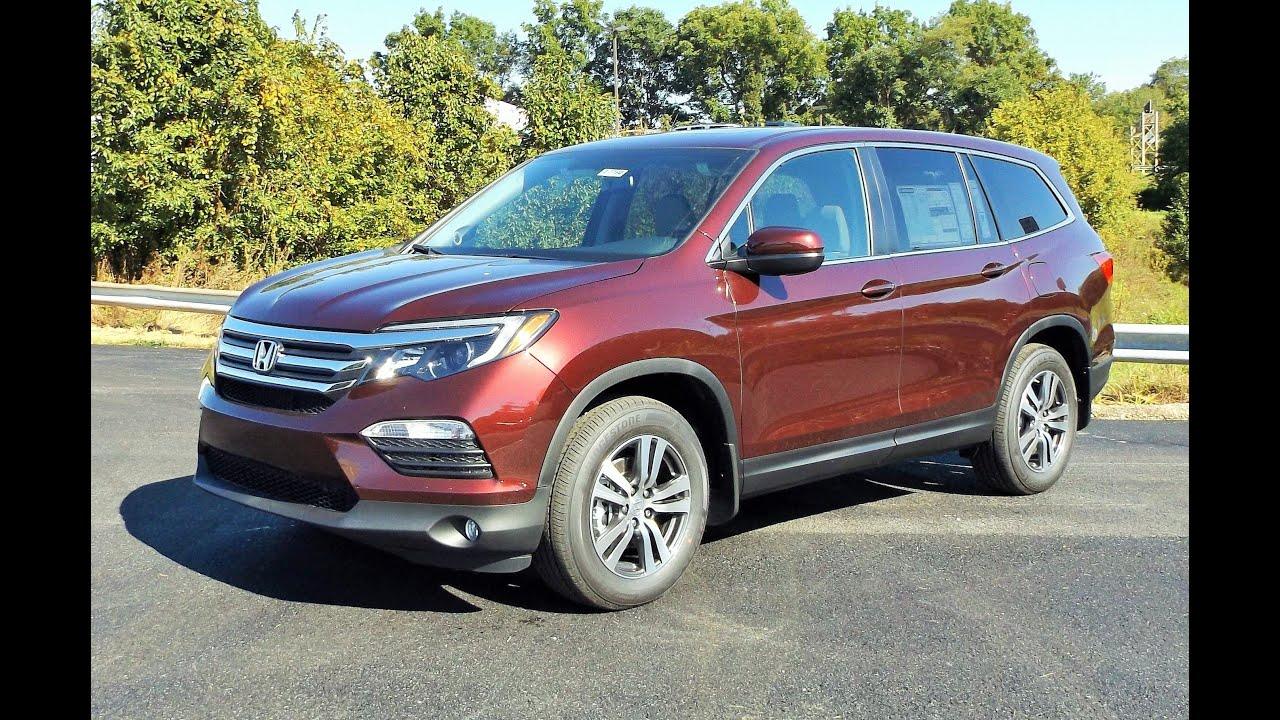 2016 Honda Pilot Ex L Awd V6 Start Up Review And Full Tour Youtube