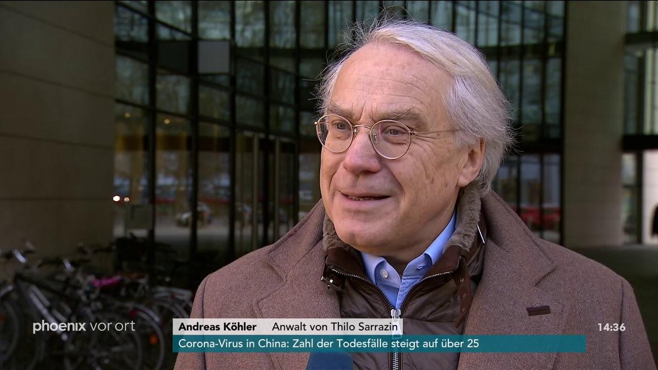 Statement von Thilo Sarrazins Anwalt Andreas Köhler zum Parteiausschlussverfahren am 24.01.20