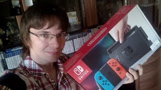 РАСПАКОВКА NINTENDO SWITCH ИЗ DNS! NEW UNPACK 2018