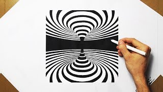 Satisfying Video 3D Optical Illusion Drawing Spiral Energy Teleport