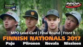 disc golf finnish nationals 2017 lead card front 9