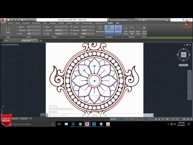 Shanku Chakara Relief  In Artcam Part 1 | By - GS zone