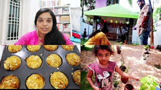 Day In My Life Vlog - Stay Calm & Carry On - Rava Uthappam - Banana White Choco Muffins
