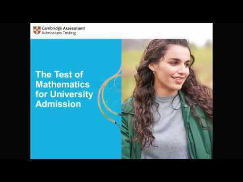 Preparing for the Test of Mathematics for University