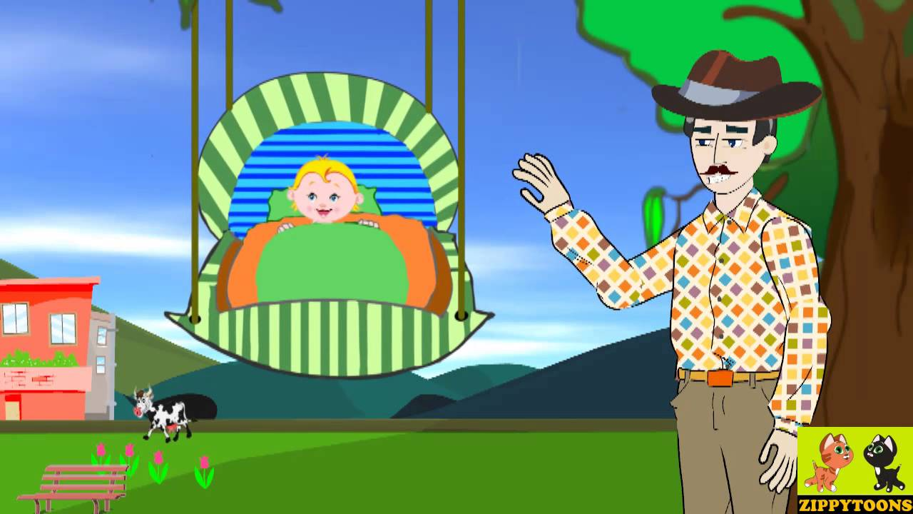 Bye Baby Bunting Daddy S Gone A Hunting Animated Baby