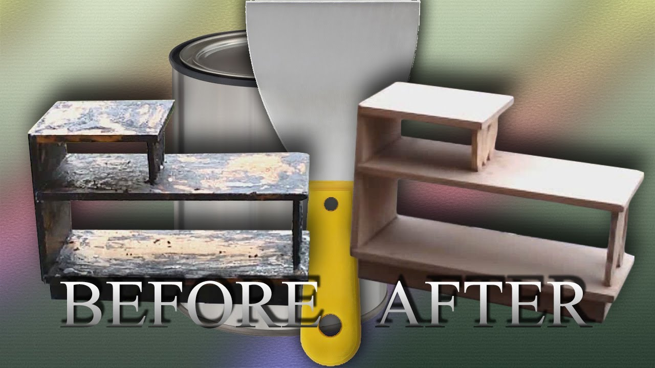 How To Remove Paint Off Of Old Furniture   Time Lapse