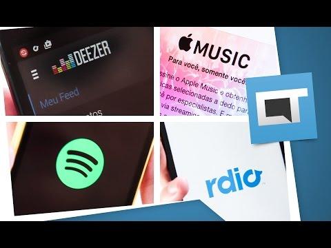 Apple Music VS Spotify VS Deezer VS Rdio: qual é o melhor? [Comparativo] Mp3
