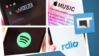 Apple Music VS Spotify VS Deezer VS Rdio: qual é o melhor? [Comparativo]
