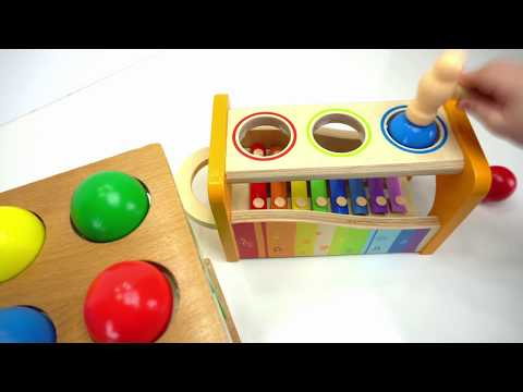 Thumbnail: Preschool Toys Teach Colors and Counting for kids! Genevieve Joins the Ball Pounding Fun!