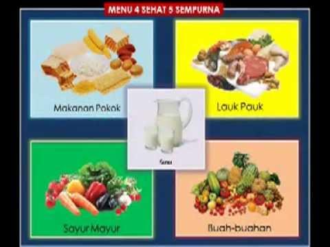 Makanan 4 Sehat 5 Sempurna Kartun Gambar Tanaman Obat
