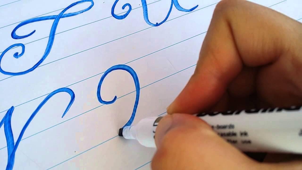 الدرس السادس كيف تحسن الخط الانجليزي Caligrafia Caligrafo English Writing Youtube