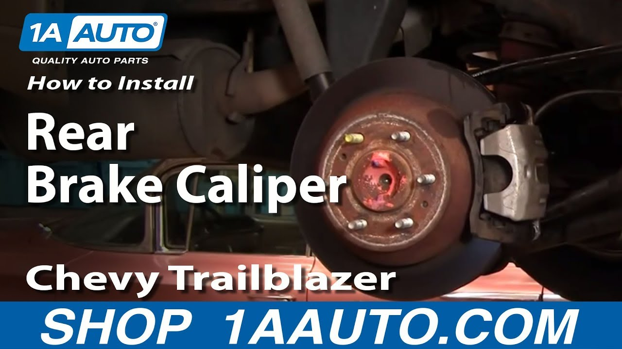 How To Install Replace Leaking Rear Brake Caliper Chevy Trailblazer 2000 Blazer Vacuum Diagram Further 2003 S10 Front End Gmc Envoy 1aautocom Youtube
