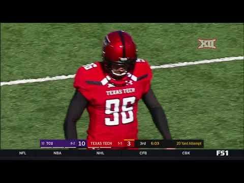 TCU at Texas Tech Football Highlights