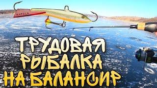 Трудовая рыбалка на балансир Rapala Jigging Rap Ловля окуня зимой