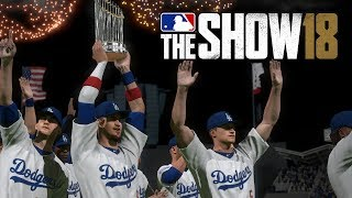 MLB 18 The Show World Series Celebration ft. Los Angeles Dodgers (MLB The Show 18 Gameplay)