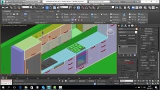 3ds Max Vray Mutfak Modelleme Bölüm-1 - 3ds Max Vray Kitchen Modeling Part-1