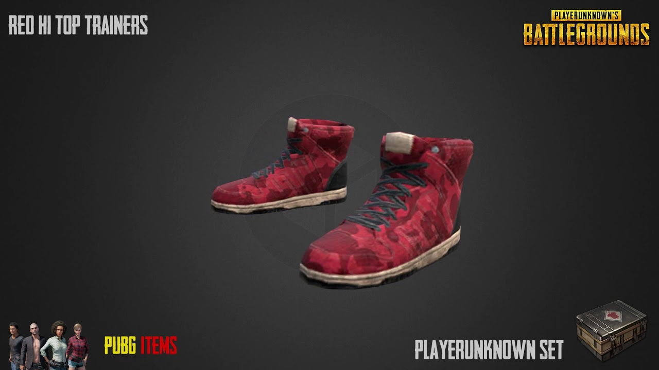 "Image result for Red Hi-top Trainers) pubg"" Most expensive PUBG item sets"