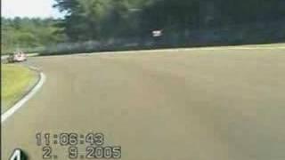 Nissan Sunny N14 GTI Turbo on circuit Zolder Belgium