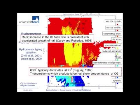 Use of remote sensing of clouds and precipitation for improved weather forecasting and warning