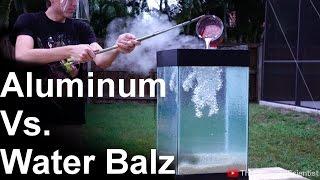 Molten Aluminum Vs 'Spitballs' - SO COOL!! (water balz) NEw