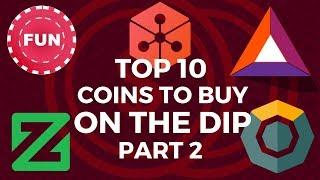 Top 10 Coins to buy on the Altcoin Dip - Part 2 | Lunyr, Zcoin, Komodo, FunFair, BAT