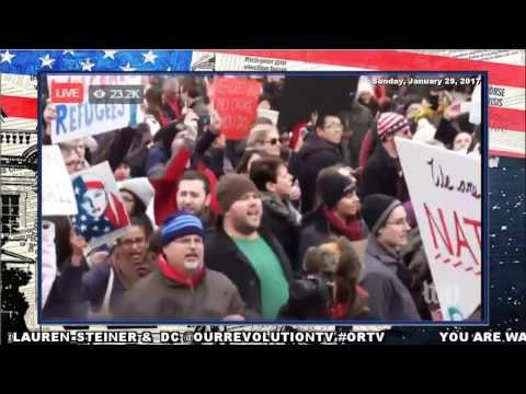 No Ban, No Wall; Muslim Ban National Trump Protests Day 2