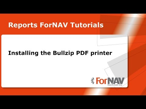 Installing the Bullzip PDF Printer Tutorial - YouTube