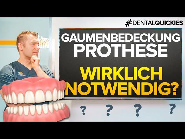 Gaumenfreie Prothese ohne Implantate? Möglich oder nicht?