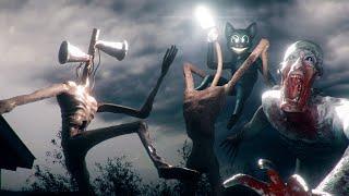 All Fights on CAMERA Highlights  Siren Head vs SCP-096 vs Cartoon Cat vs Light Head