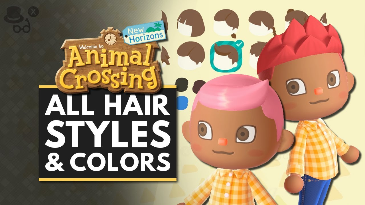 Animal Crossing New Horizons  All Hairstyles & Color Customization Options