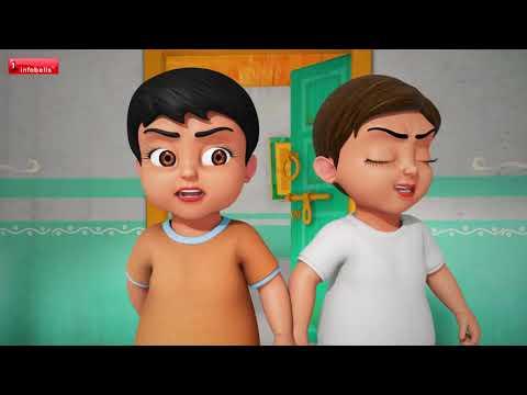 Chunnu Munnu they do bhai Aur Chidiya | Hindi Rhymes for Children | Infobells