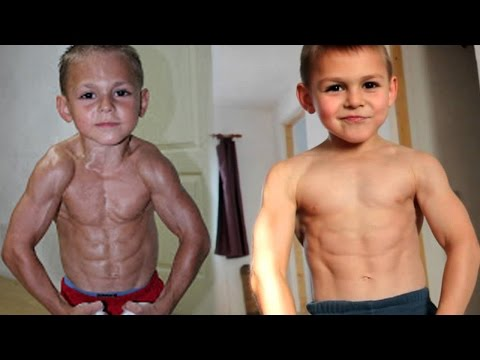 9 Yr Old Becomes Body Builder - World's Strongest Boy