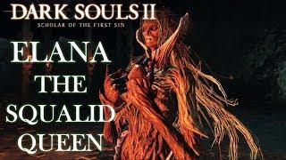 Elana the Squalid Queen Boss Fight (Tank Build) | Dark Souls 2 SOTFS