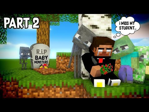 Monster School : RIP ALL  BABY Monsters Part 2 (Sad story) - Minecraft Animation