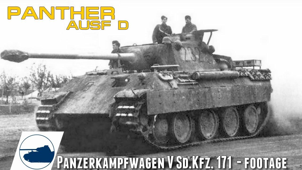 Rare WW2 Panther Ausf.D footage - Panzerkampfwagen V.