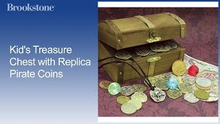 Overview: Kids Treasure Chest With Pirate Coins