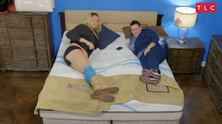 """Lindsay is 6'9"""".  Mattress Shopping Is Not Easy. 
