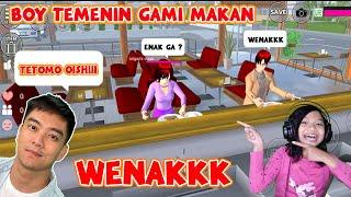 Gami Mau Ngajak Makan Si Boy  Sakura School Simulator